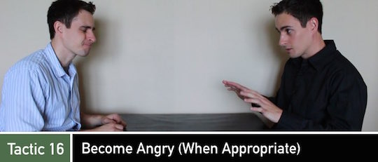 Negotiation Tactic 16: Become Angry (When Appropriate)