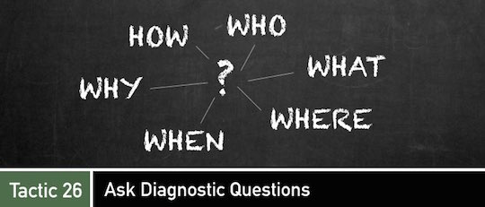 Negotiation Tactic 26: Ask Diagnostic Questions