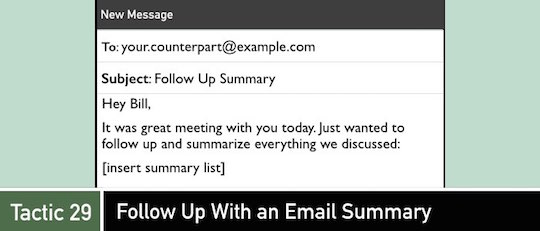 Negotiation Tactic 29: Follow Up With an Email Summary