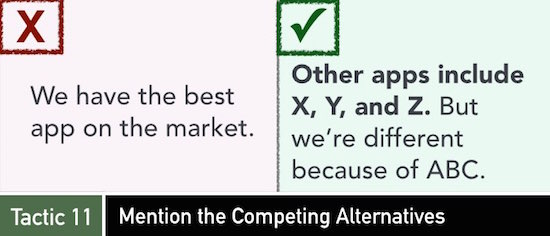 Tactic 11: Mention the Competing Alternatives