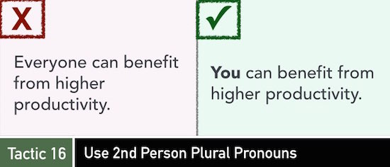 Tactic 15: Use 2ndPerson Pronouns