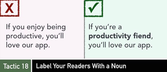 Tactic 17: Label Your Readers with a Noun