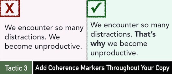 Tactic 3: Add Coherence Markers Throughout Your Copy