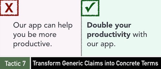 Tactic 7: Transform Generic Claims into Concrete Terms