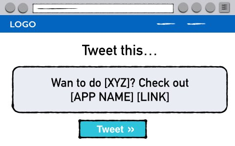 Want to do XYZ? Check out [APP NAME] [LINK]