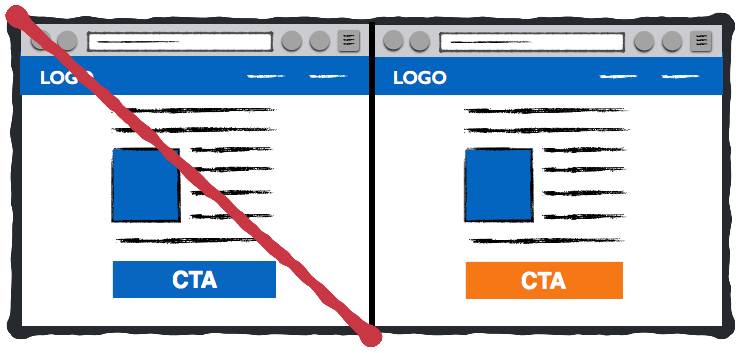 Example of Color Contrast in CTA Button