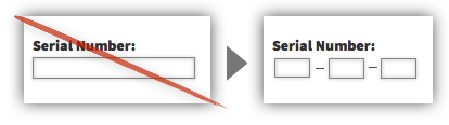 UX Tactic 103 - Structure Text Fields to Match the Required Input