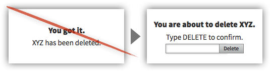 UX Tactic 107 - Add Constraints to Significant Irreversible Changes