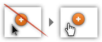 UX Tactic 113 - Add a Transparent Border to Small Buttons