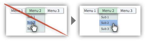 UX Tactic 115 - Hyperlink the Entire Menu Option Container