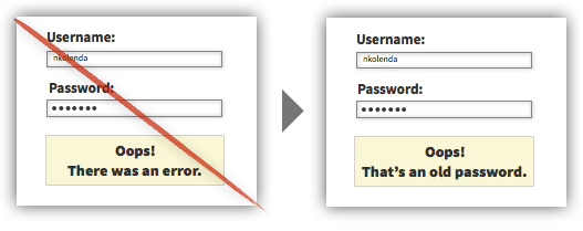 UX Tactic 117 - Explain the Reason for Validation Errors