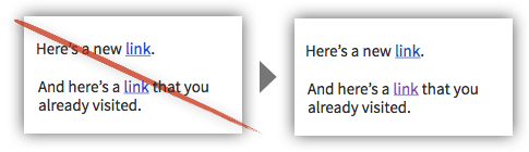 UX Tactic 121 - Use Different Colors for Visited Links