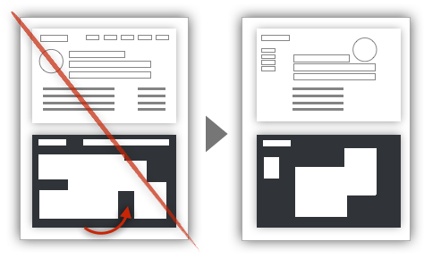 UX Tactic 2 - Avoid Trapping Negative Space in the Composition