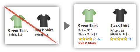 UX Tactic 21 - Include Important Data on Product Listing Pages