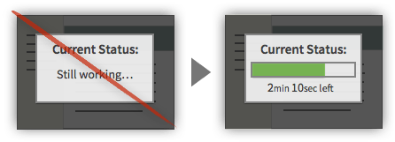 UX Tactic 28 - Display Current Progress and Time Remaining on Machine-Driven Tasks
