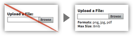 UX Tactic 34 - Describe the Input That You Require From Users