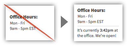 UX Tactic 44 - Indicate Whether Your Office is Open or Closed