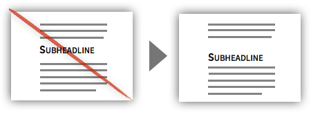 UX Tactic 6 - Align Headlines Closer to Respective Sections