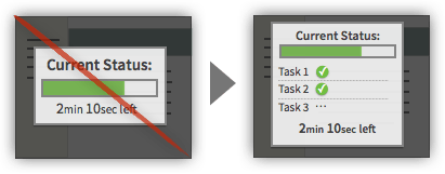 UX Tactic 60 - Display a Running Tally of Tasks Occurring