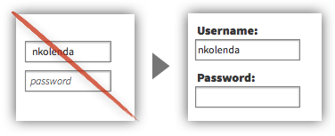UX Tactic 61 - Keep Form Labels Visible At All Times