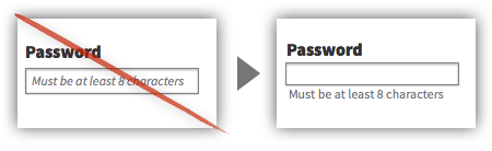 UX Tactic 62 - Position Placeholder Text Outside the Form Element