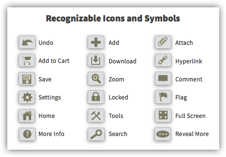 UX Tactic 68 - Use Icons and Symbols to Convey the Meaning of an Interaction