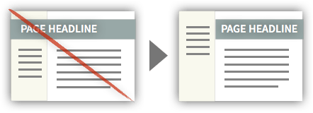 UX Tactic 7 - Constrain Headlines to Respective Sections
