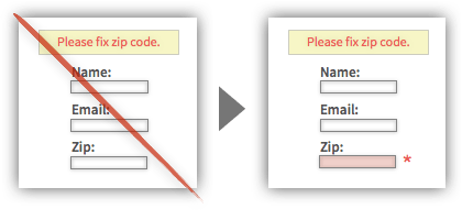 Best Practice #8 - Place Error Messages Above Forms and Adjacent to Elements