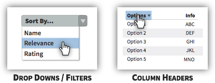 UX Tactic 87 - Let Users Control the Order of Data
