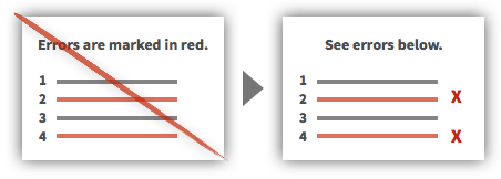 UX Tactic 93 - Use Multiple Cues to Communicate Information