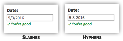 UX Tactic 95 - Use Form Elements That Accept Various Formats of Input