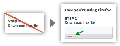 UX Tactic 98 - Customize Instructions for the User's Browser