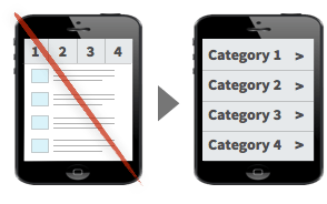 UX Tactic 99 - Use One-Window Drilldowns on Small Devices