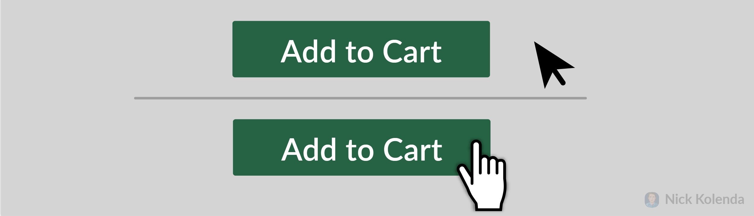 Cursor changing while hovering over button