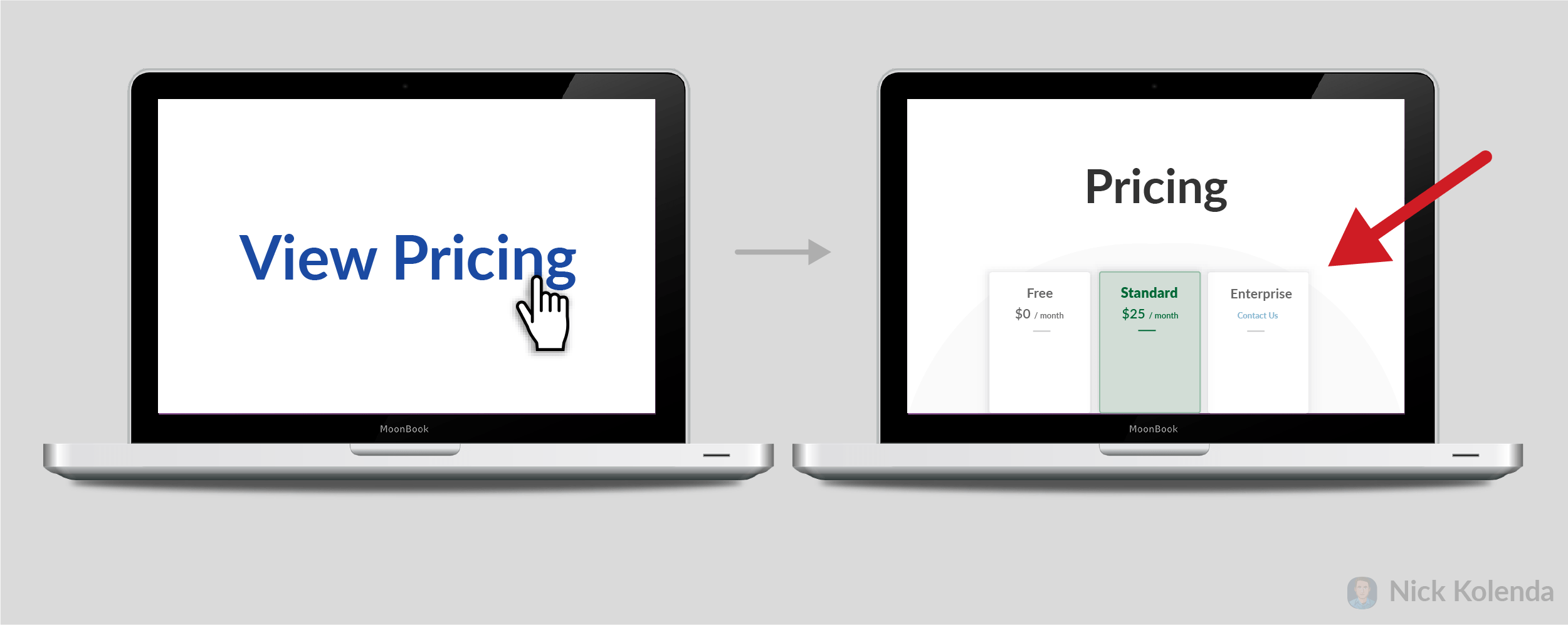 Clicking pricing and then arriving on page that shows pricing in viewport after loading