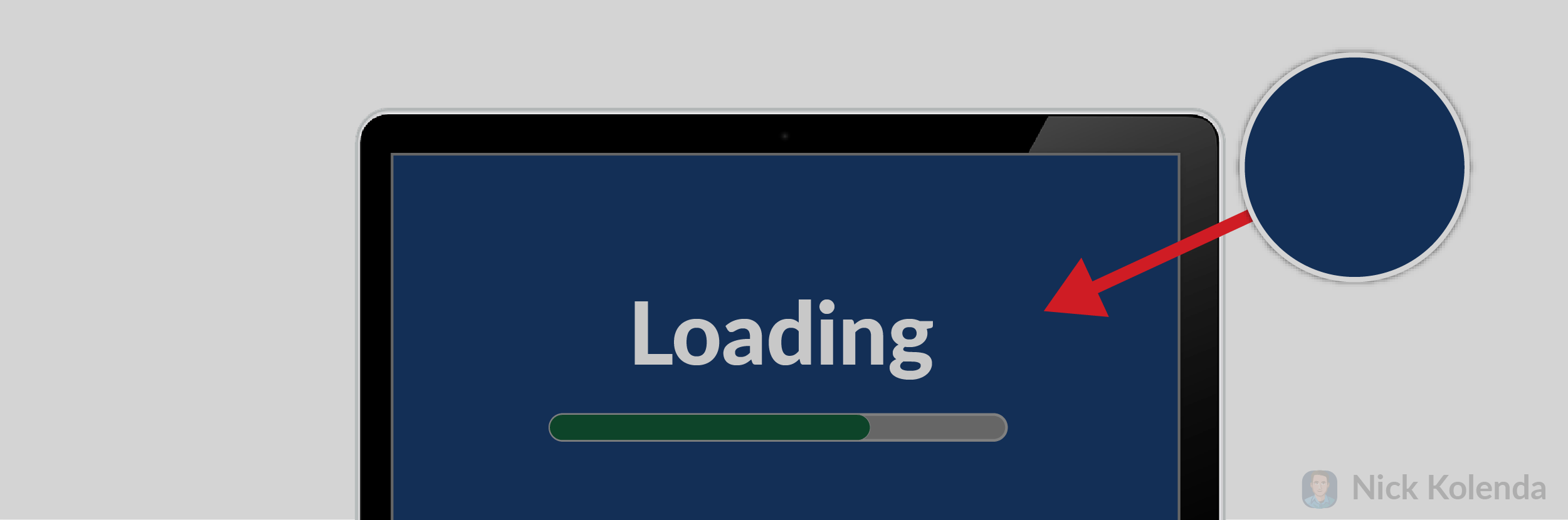 Blue background of loading screen