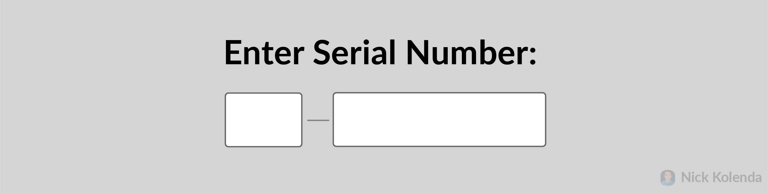 Short field and long field for serial number