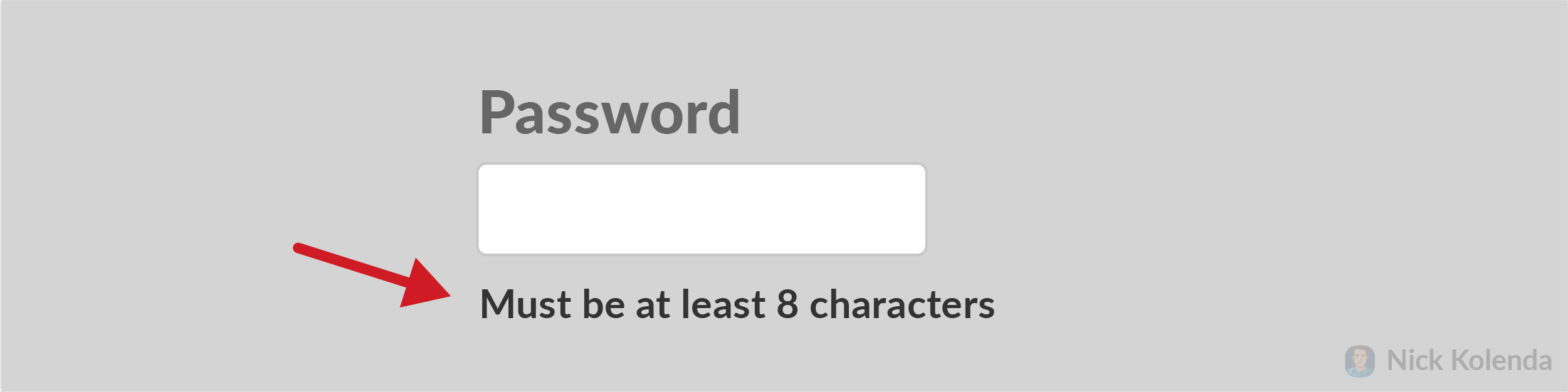 Password must be at least 8 characters