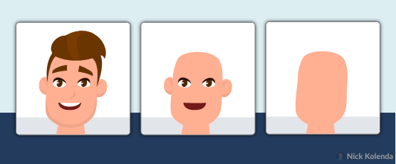 Spectrum of faces with fewer recognizable features