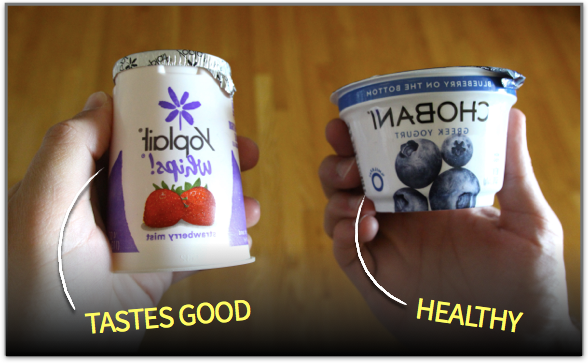 Yogurt that tastes good vs. yogurt that is healthy