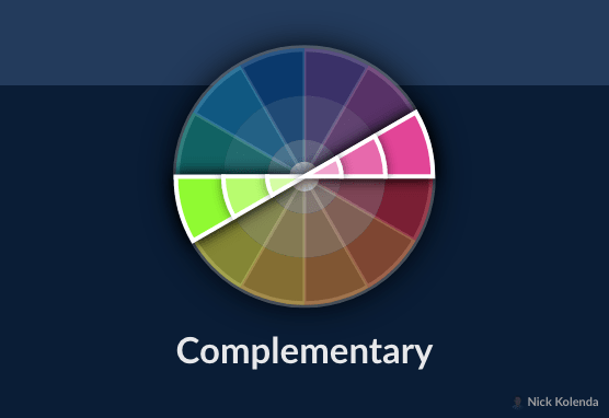 Colors that are across from each other on the color wheel