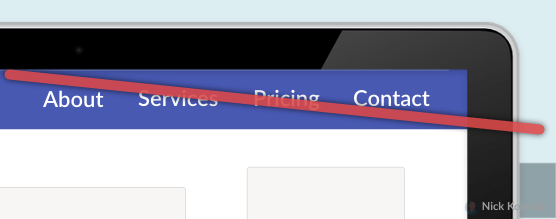 Crossed Out Navigation Menu in Checkout
