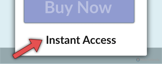"""Purchase button with """"Instant Access"""" underneath"""