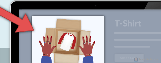 Product Thumbnail Shows Opening a Delivered Box